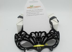 Christmas Party Celebration Ball Masks Black Flocking Eye Mask