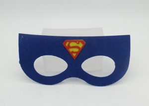 Facial Mask Non Woven Masks Blue Superman Felt Mask