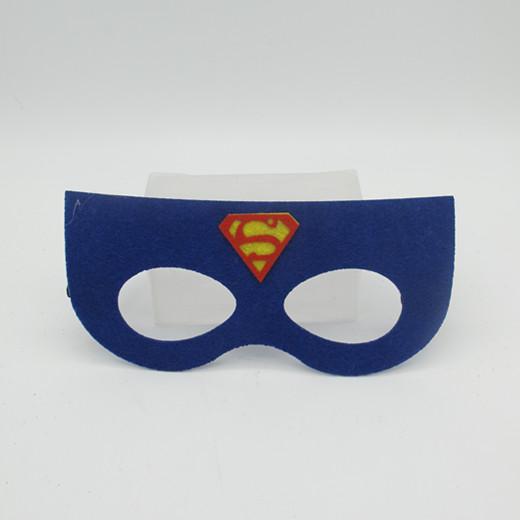 Facial Mask Non Woven Masks Blue Superman Felt Mask