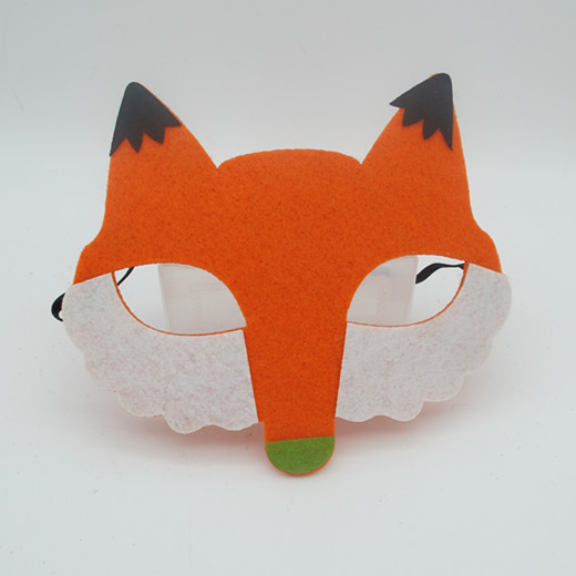 Wholesale Non Woven Felt Masks Animal Eye Masks Fox Bear Chicken Eagle Mask