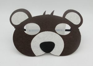 Non Woven Felt Masks Animal Eye Masks Fox Bear Chicken Mask