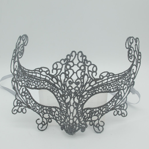 Christmas Masquarade Masks Multi-style Elegant Grey Lace Mask