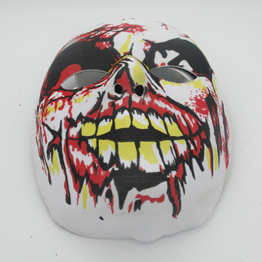 Fabric Halloween Spook Full Face Mask with Blood Costume Mask