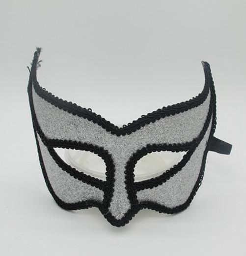 Halloween Glitter Mask Fabric Black Sliver Halloween Masks