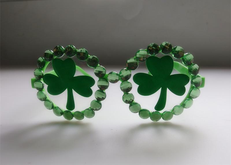 Irish Holiday Beaded Eyeglasses Shamrock Eyeglasses