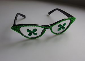 Party Nerd Glasses St. Patrick Irish Eye Glasses with Shamrock