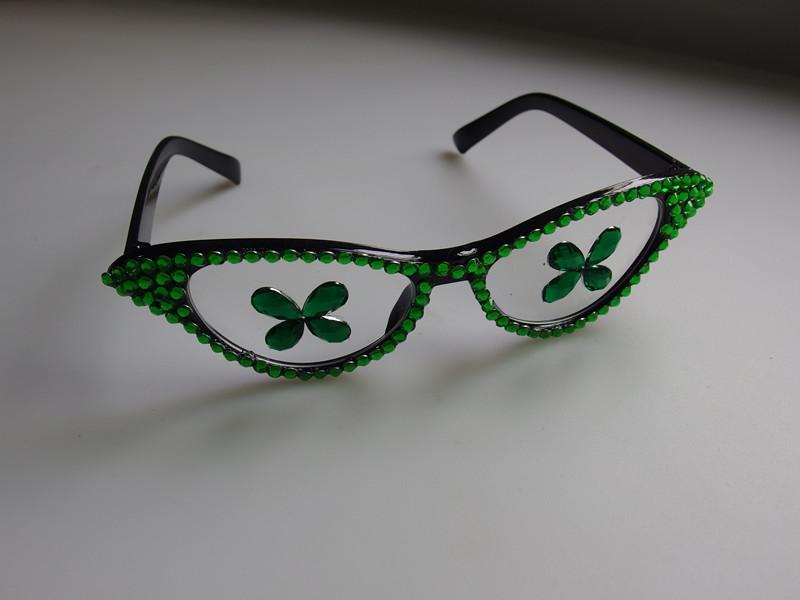 Party Nerd Glasses St. Patrick Irish Eye Glasses with Shamrock