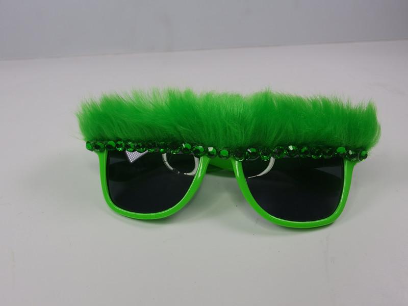 St. Patrick Green Fuzzy Eyeglasses
