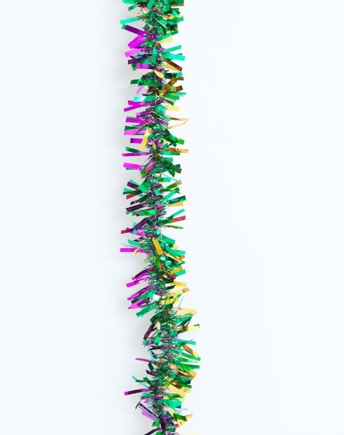 9' PGG Tinsel Garland Mardi Gras Garland Decorations