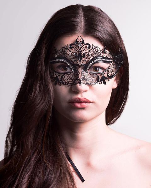 Queen Black Stras Masquerdae Party Masks