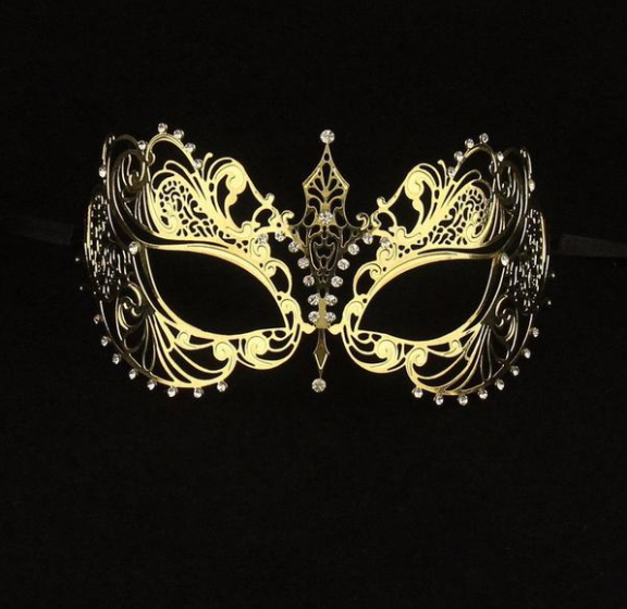 Tigress Gold Masquerade Mask
