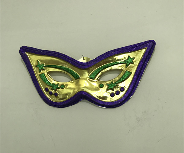"Mardi Gras Wall Decoration 28"" Cat Eye Metallic Mask"