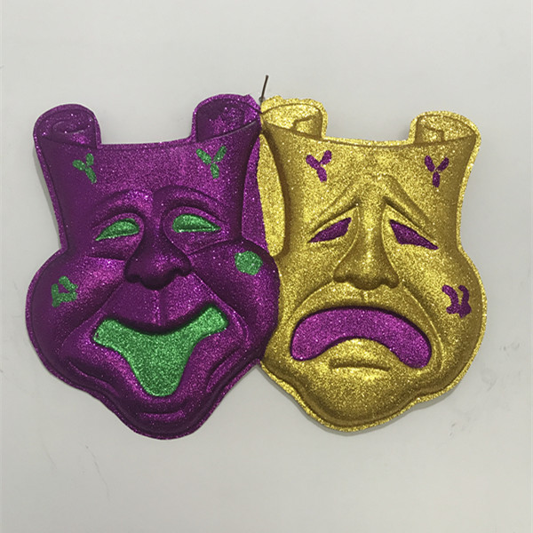 "25"" Wall Deci Comedy/Tragedy Mask Plaque Mardi Gras Decoration"