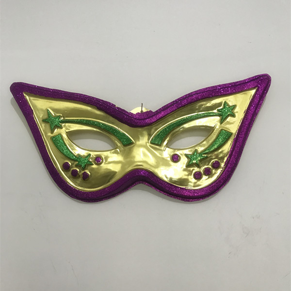 Mardi Gras Wall Decoration 28 Cat Eye Metallic Mask