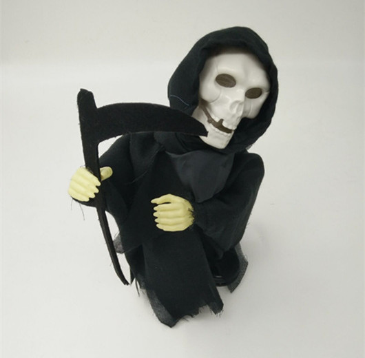 Buy Affordable Halloween Toy Halloween Skull Hanger with Black Clothe