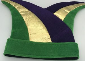 Purple Green Gold Mardi Gras Plush Hat Mardi Gras Party