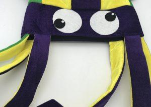 Purple Green Gold Mardi Gras Squid Hat Mardi Gras Hat