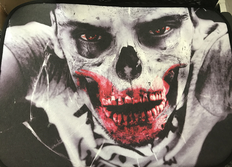 Lighting Halloween Bath Carpet Rug w LED Lighting Skull Blood Mouth