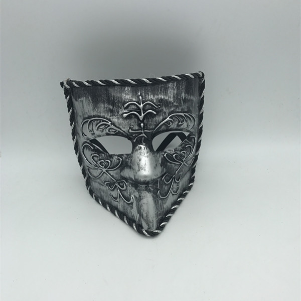 Venetian Mask Bauta Venice Mask Sliver Masquerade Mask for Men
