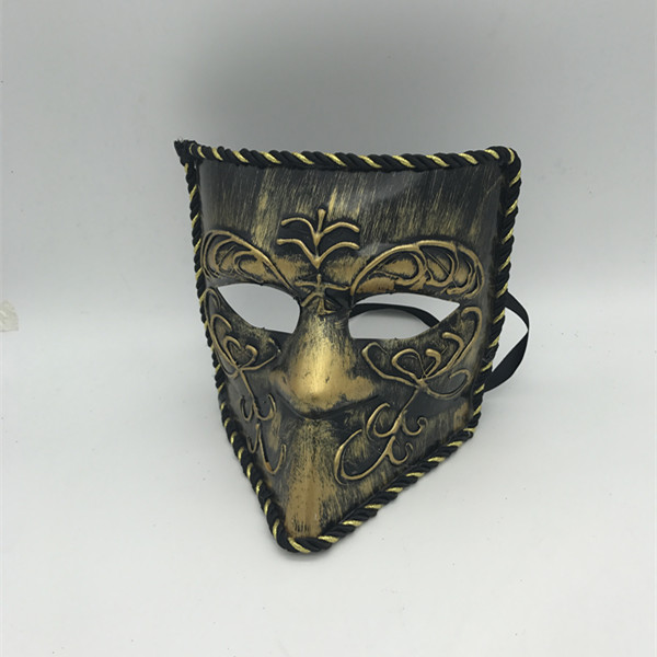 Venetian Mask Bauta Venice Mask Gold Masquerade Mask for Men