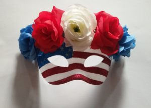 Masquerade Mask Blue Red White Masks Patriotic Costume Acessories