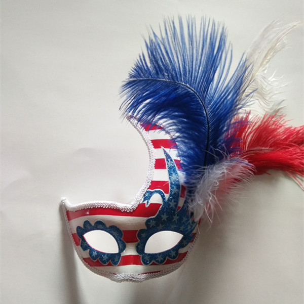 Patriot Mask America Patriotic Blue Red White Flower Mask