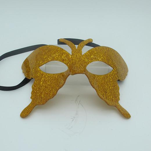 Acylic Glitter Gold Butterfly Masquerade Masks Costume Mask