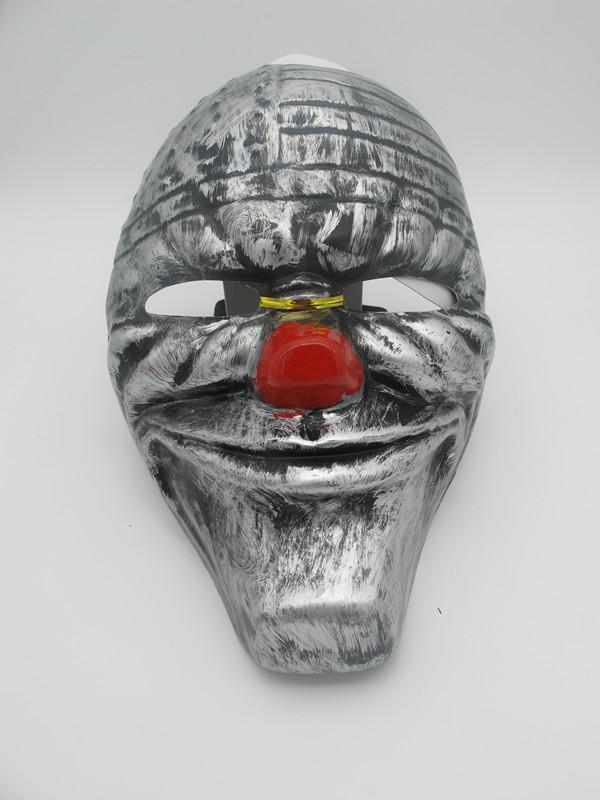 Sliver Metallic Halloween Scary Clown Eye Mask