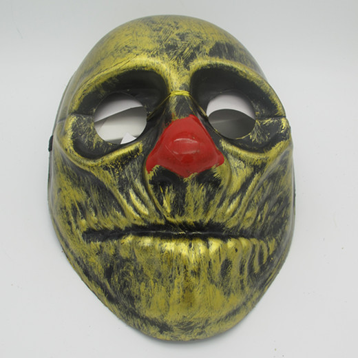 Gold Metallic Halloween Scary Clown Eye Mask