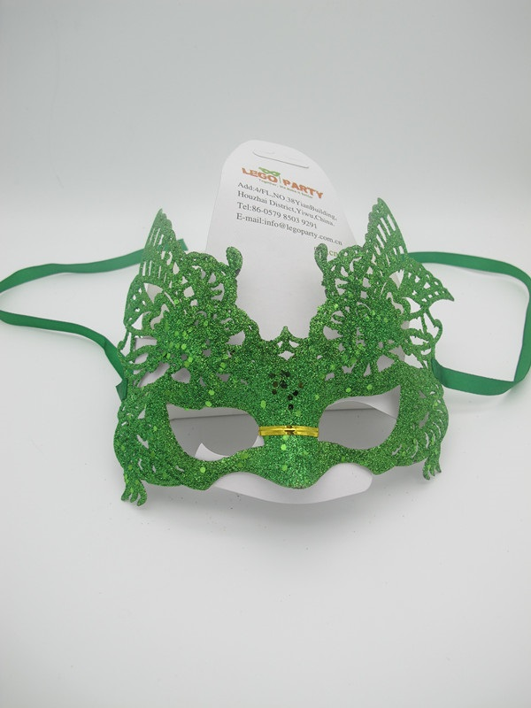 Mardi Gras Party In New Orleans Green Filigree Masks