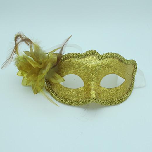 Gold Acylic Masks Masquerade Party Ball