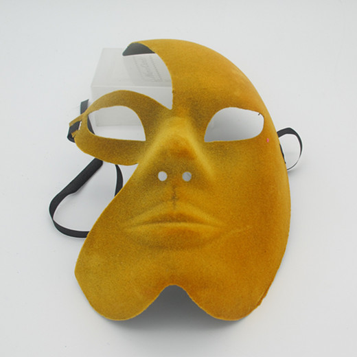 Venezia Moon Mask on Stick Gold Carnival Masks