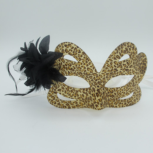 Happy New Year Masquerade Mask Purple Butterfly Acrylic Leopard Mask