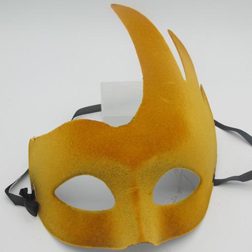 Elegant Party Mask Lint Mask Gold  Costume Masks Accessories