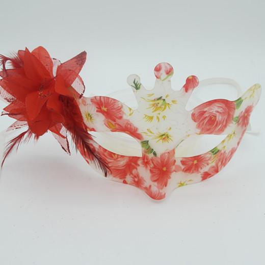 Happy New Year Masquerade Mask Acrylic Flower Mask