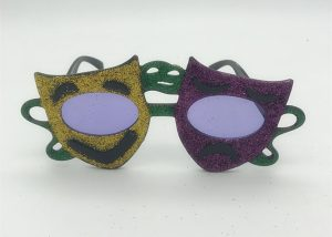 Comedy Tragedy Mardi Gras Sunglasses For Mardi Gras Party
