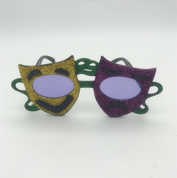 Comedy Tragedy Mardi Gras Sunglasses For Mardi Gras Party