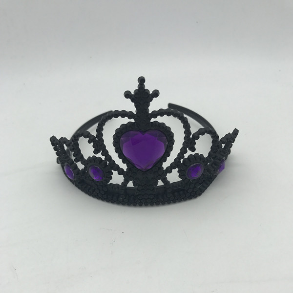 Black and Purple Princess Crown Costume Tiara-Style Crown