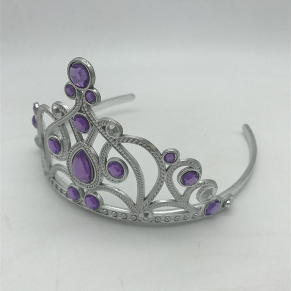Girls Tiara Princess Tiara w Light Purple Stones Party Dress Up