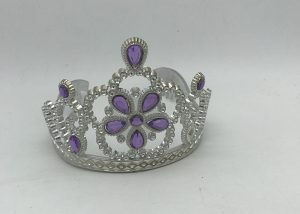 Girls Tiara Princess Tiara w Light Purple Stones Party Dress Up