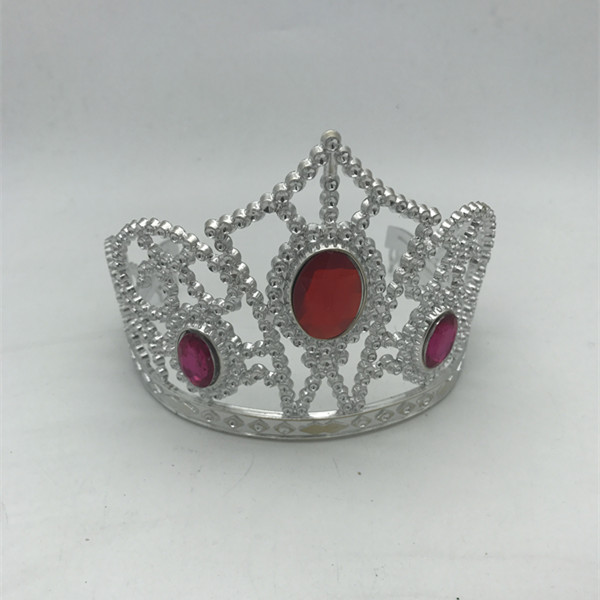 Red Pink Sliver Plastic Princess Tiaras For Costume Accessories