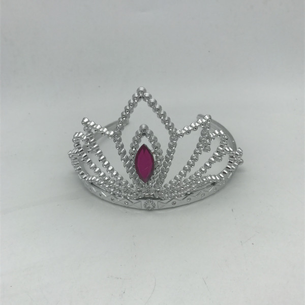Pink Sliver Plastic Princess Tiaras For Costume Accessories