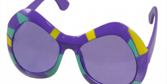 PGG Retro Mardi Gras Sunglasses For Mardi Gras Party