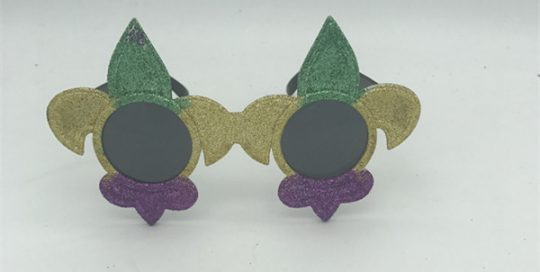 PGG Fleur de Lis Sunglasses Mardi Gras Eye Glasses