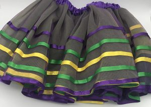 12 Inch 4 Layer Mardi Gras TuTu For Mardi Gras Costume