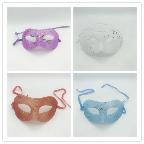 Glitter Eye Mask with Star Sequins