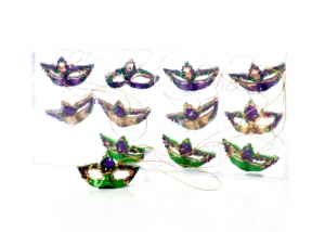Mardi Gras Mask Tree Ornaments