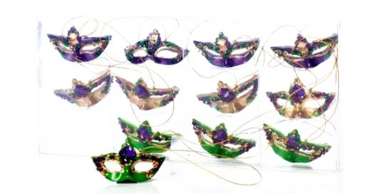 Mardi Gras Mask Tree Ornaments