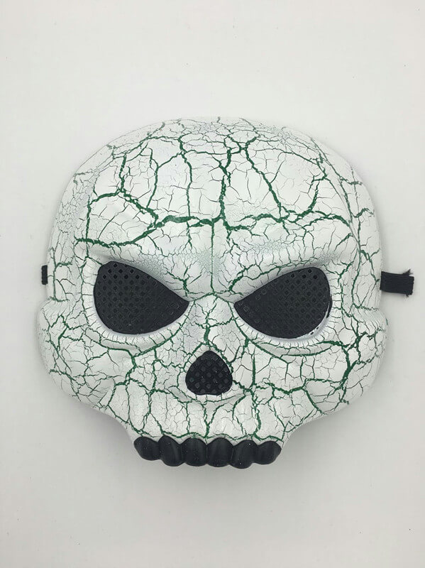 Halloween Scary Skull Mask with Black Mesh Eye and Teeth