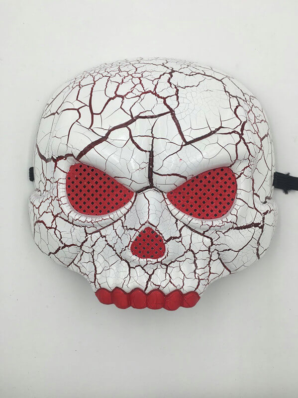 Halloween Scary Skull Mask with Red Mesh Eye and Teeth